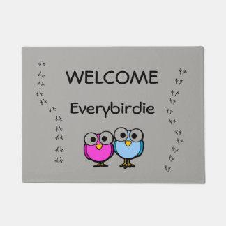 Welcome Everybirdie Door Mat made in the USA