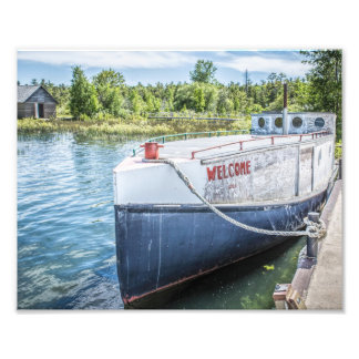 Welcome Fishing Boat Photo Print