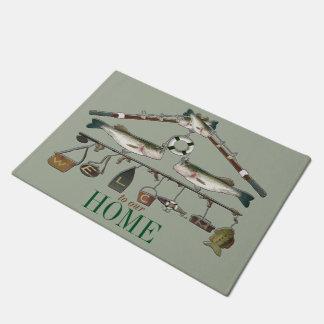Welcome Fishing Rod Bass Fish Doormat