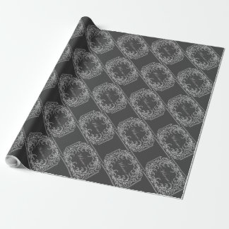 Welcome Flower and Leaf Chalkboard Wrapping Paper
