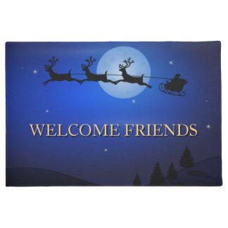 Welcome Friends Beautiful Christmas Doormat