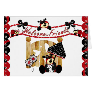 Welcome Friends Card