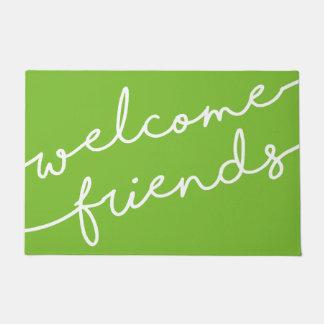Welcome Friends Typography - Pick Your Color Doormat