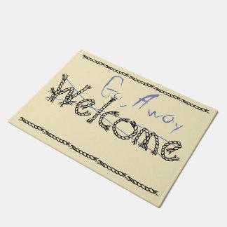Welcome - Go Away Mat