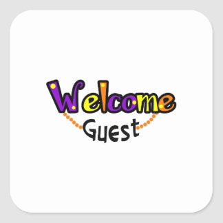WELCOME GUEST TOWELS SQUARE STICKER