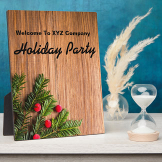 Welcome Holiday Party Message Plaque