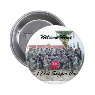 Welcome Home 171st sapper Company 6 Cm Round Badge