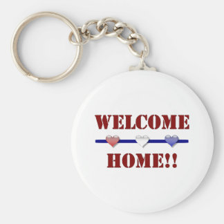 Welcome Home: 3 hearts Key Ring