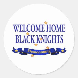 Welcome Home Black Knights Round Sticker