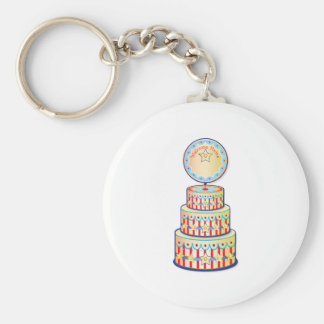 Welcome Home Cake Template Basic Round Button Key Ring
