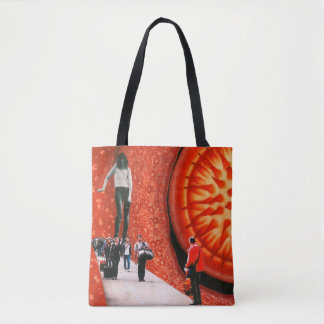 'Welcome Home' Collage Art All-Over Print Tote Bag