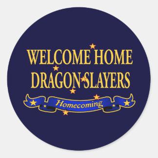 Welcome Home Dragon Slayers Round Sticker