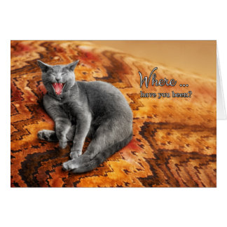 Welcome Home | From the Cat | Funny Greeting Card