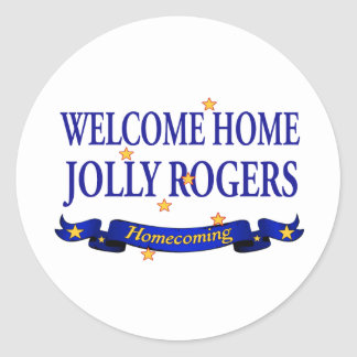 Welcome Home Jolly Rogers Round Sticker