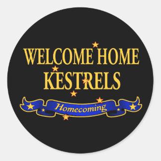 Welcome Home Kestrels Round Sticker