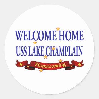 Welcome Home Lake Champlain Round Sticker