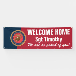 Welcome Home Marine - Red and Blue Seal