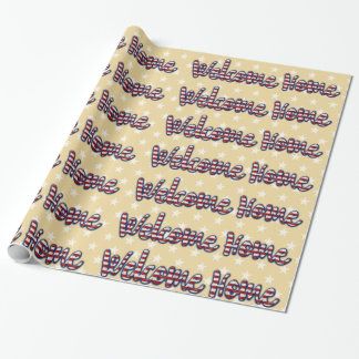 Welcome home military * choose background color wrapping paper