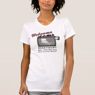 Welcome Home Military Custom Photo T-Shirt