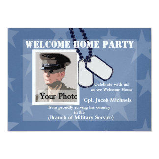 Welcome Home/ Military Dog Tags 13 Cm X 18 Cm Invitation Card