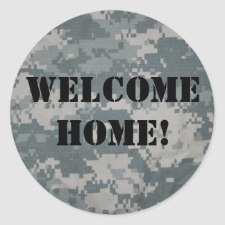 """""""Welcome Home!"""" Military Greeting Sticker Sheets"""