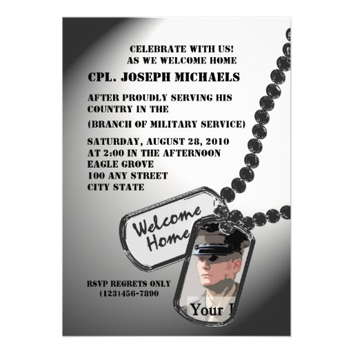 Welcome Home/ Military Personalized Invite