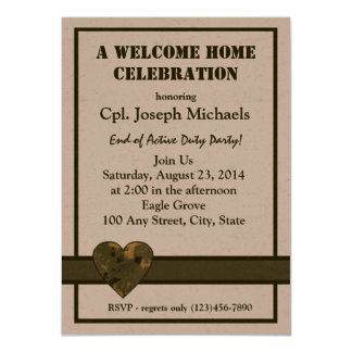 "Welcome Home Military 4.5"" X 6.25"" Invitation Card"