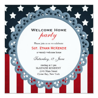Welcome Home Military Party Card