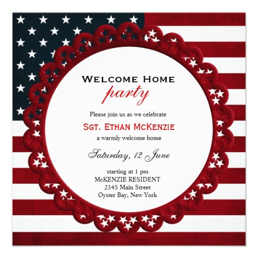 Http Www Zazzle Com Au Welcome Home Military Party Custom Invitations 161526186343857632