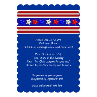 Welcome Home Party Military Patriotic American 13 Cm X 18 Cm Invitation Card