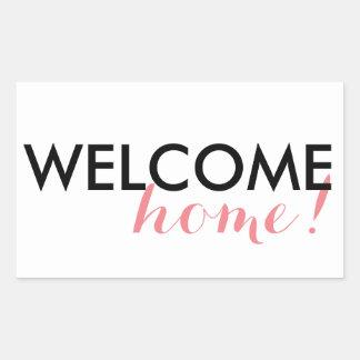 Welcome Home! Rectangular Sticker