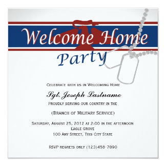 Welcome Home Red White Blue Military Card