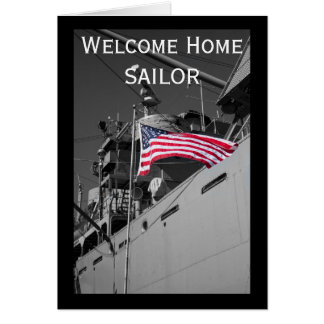 Welcome Home Sailor card