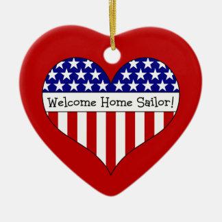 Welcome Home Sailor! Ceramic Ornament