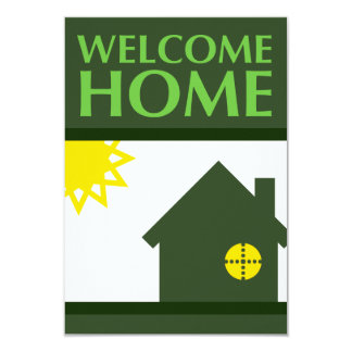 welcome home (shapes) personalized invitation