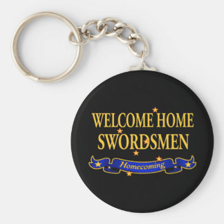 Welcome Home  Swordsmen Basic Round Button Key Ring