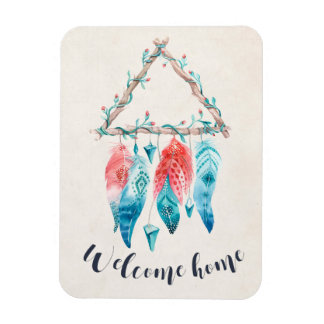 Welcome Home Triangle Dream Catcher Tribal Chic Magnet