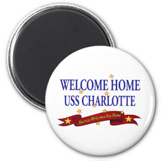 Welcome Home USS Charlotte Fridge Magnet