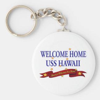 Welcome Home USS Hawaii Key Ring