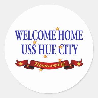 Welcome Home USS Hue City Sticker