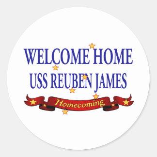 Welcome Home USS Reuben James Round Sticker