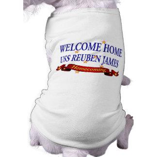 Welcome Home USS Reuben James Sleeveless Dog Shirt