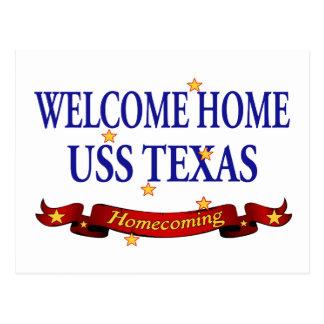 Welcome Home USS Texas Postcard