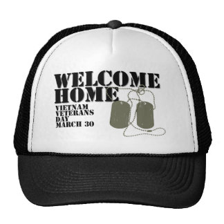 Welcome Home Vietnam Veteran Day Mesh Hats