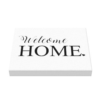 Welcome Home Wall Canvas Canvas Print