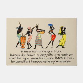 Welcome in 12 African languages Doormat