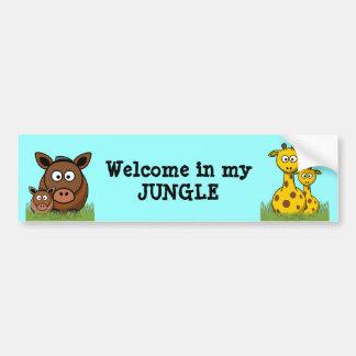 welcome in my jungle car bumper sticker