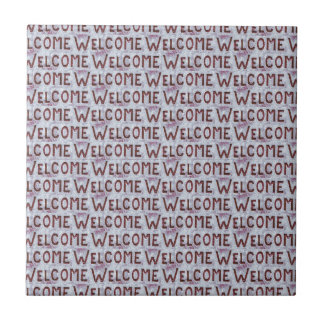 Welcome Letters Pattern Ceramic Tile