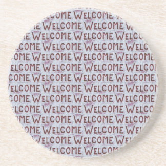 Welcome Letters Pattern Coaster