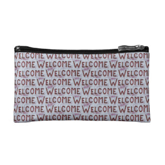 Welcome Letters Pattern Makeup Bag